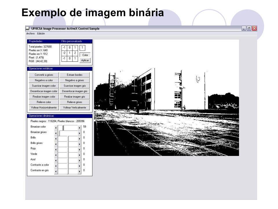 Exemplo de imagem binária