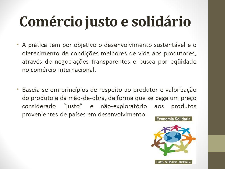 A prática tem por objetivo o desenvolvimento sustentável e o oferecimento de condições melhores de vida aos produtores, através de negociações transpa