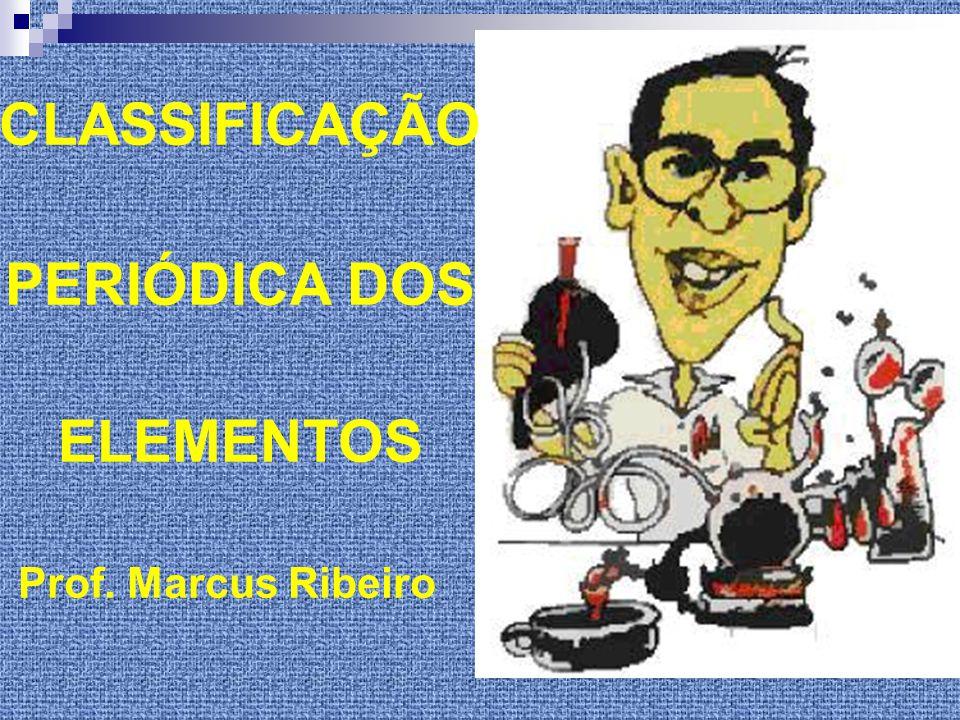 CLASSIFICAÇÃO PERIÓDICA DOS ELEMENTOS Prof. Marcus Ribeiro