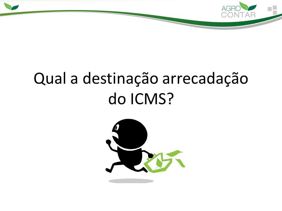 Qual a destinação arrecadação do ICMS?