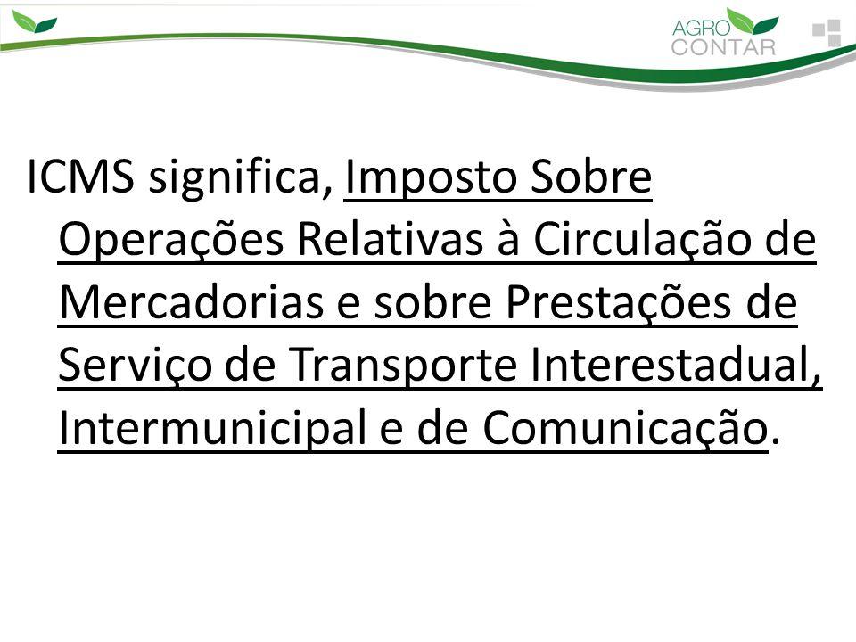 ICMS significa, Imposto Sobre Operações Relativas à Circulação de Mercadorias e sobre Prestações de Serviço de Transporte Interestadual, Intermunicipa
