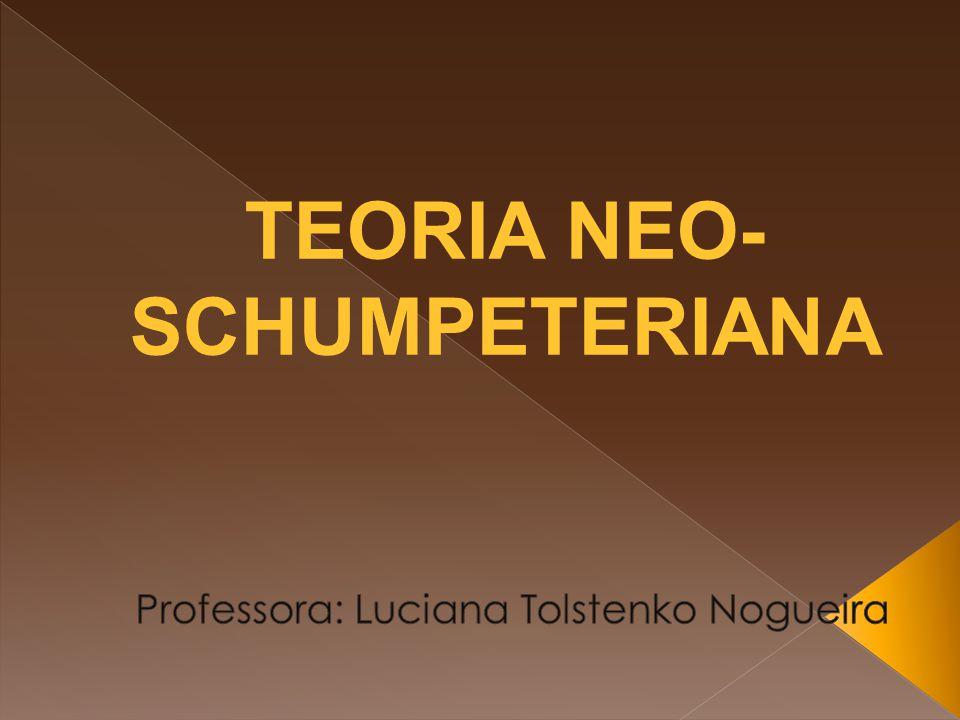  Os trabalhos de Schumpeter e dos neo-schumpeterianos permitem uma análise dinâmica da realidade econômica, à medida que se afastam do referencial de equilíbrio clássico.