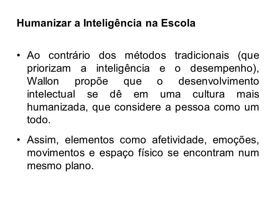 Ao contrário dos métodos tradicionais (que priorizam a inteligência e o desempenho), Wallon propõe que o desenvolvimento intelectual se dê em uma cult