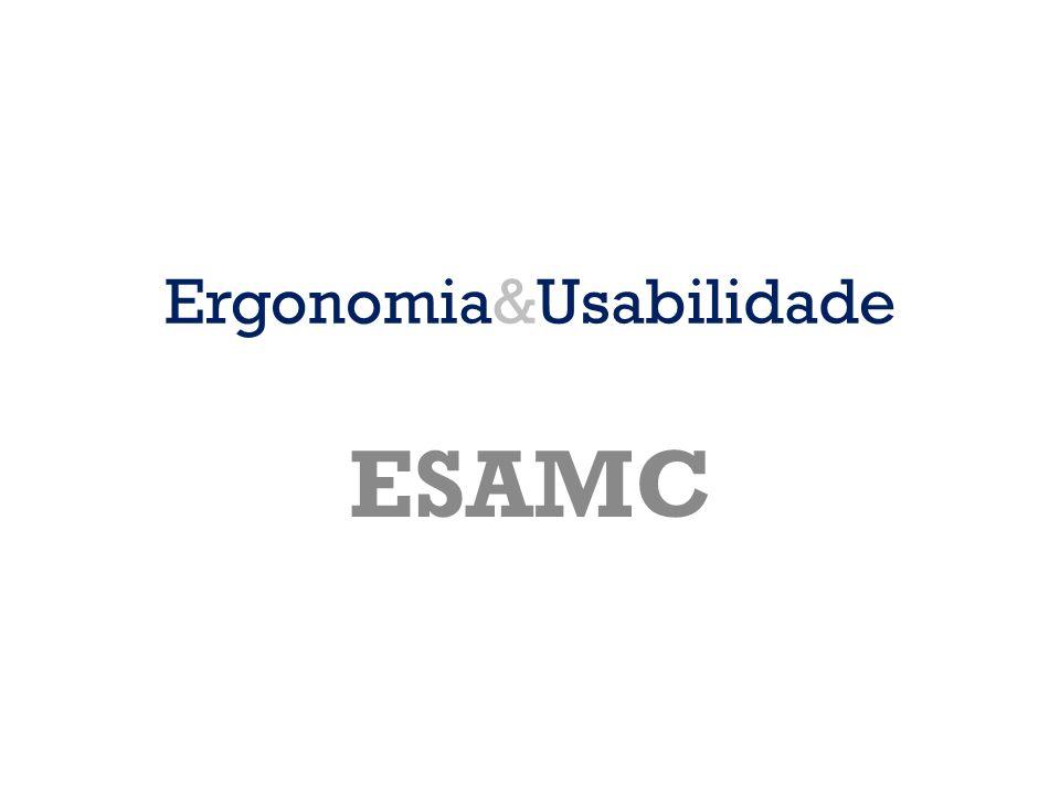 Ergonomia&Usabilidade ESAMC