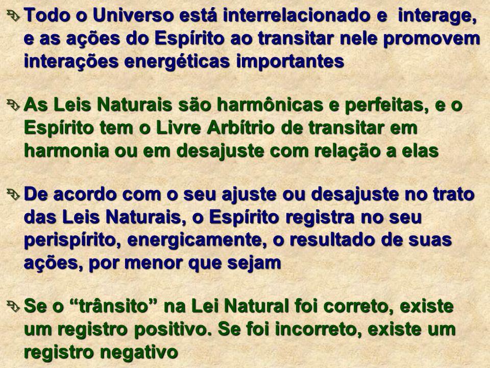  Implicam em registros energéticos a nível do perispírito, com influências decisivas nesta e em outras encarnações.