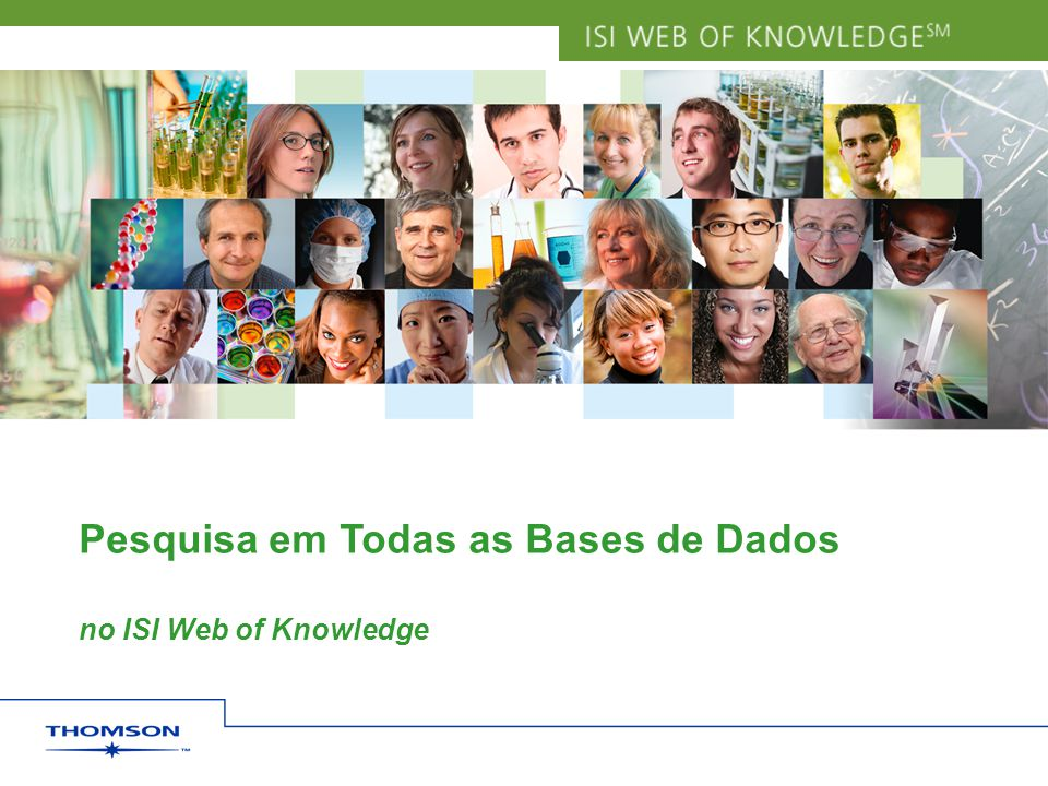 Pesquisa em Todas as Bases de Dados no ISI Web of Knowledge