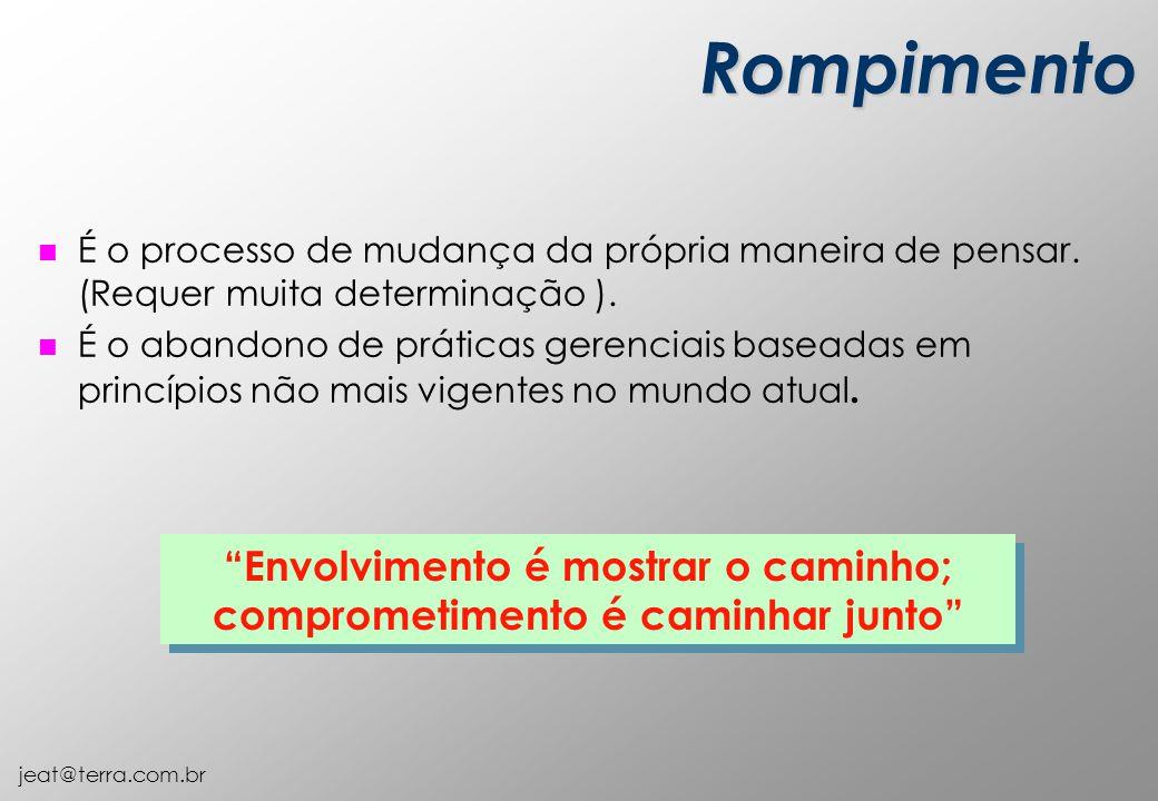 jeat@terra.com.br Rompimento n É o processo de mudança da própria maneira de pensar.