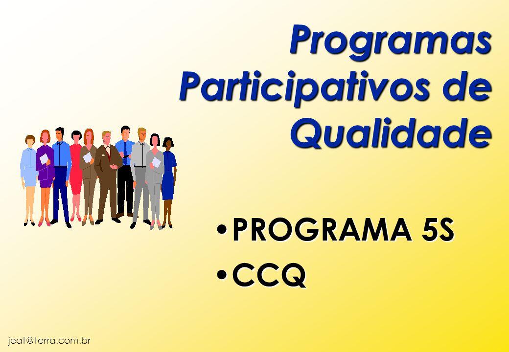 jeat@terra.com.br Programas Participativos de Qualidade PROGRAMA 5S PROGRAMA 5S CCQ CCQ