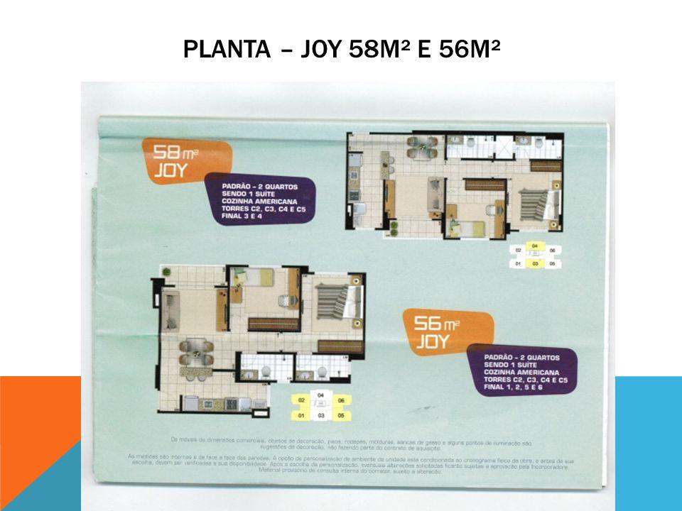 PLANTA – JOY 58M² E 56M²