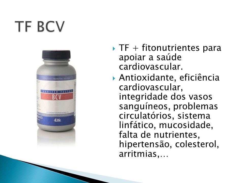  TF + fitonutrientes para apoiar a saúde cardiovascular.  Antioxidante, eficiência cardiovascular, integridade dos vasos sanguíneos, problemas circu