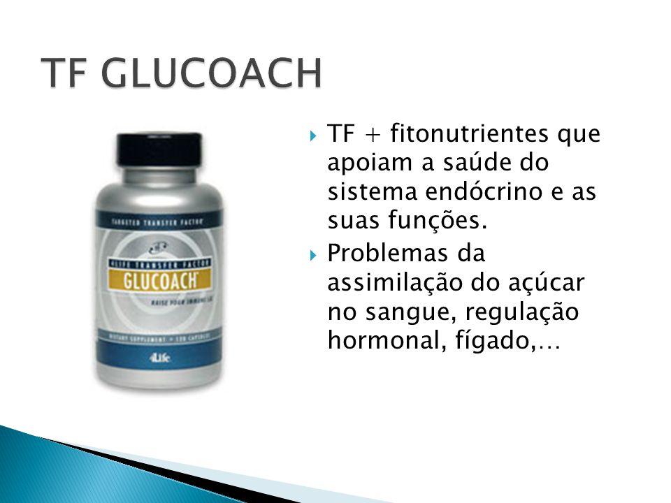  TF + fitonutrientes que apoiam a saúde do sistema endócrino e as suas funções.  Problemas da assimilação do açúcar no sangue, regulação hormonal, f