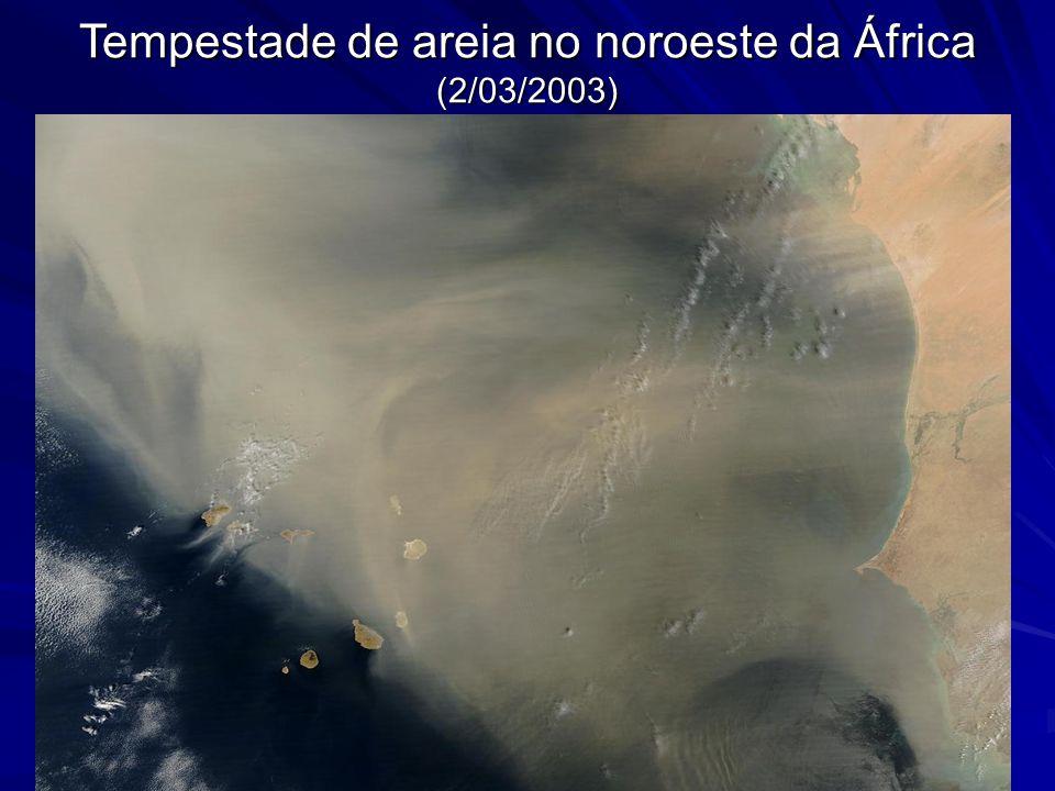 Tempestade de areia no noroeste da África (2/03/2003)
