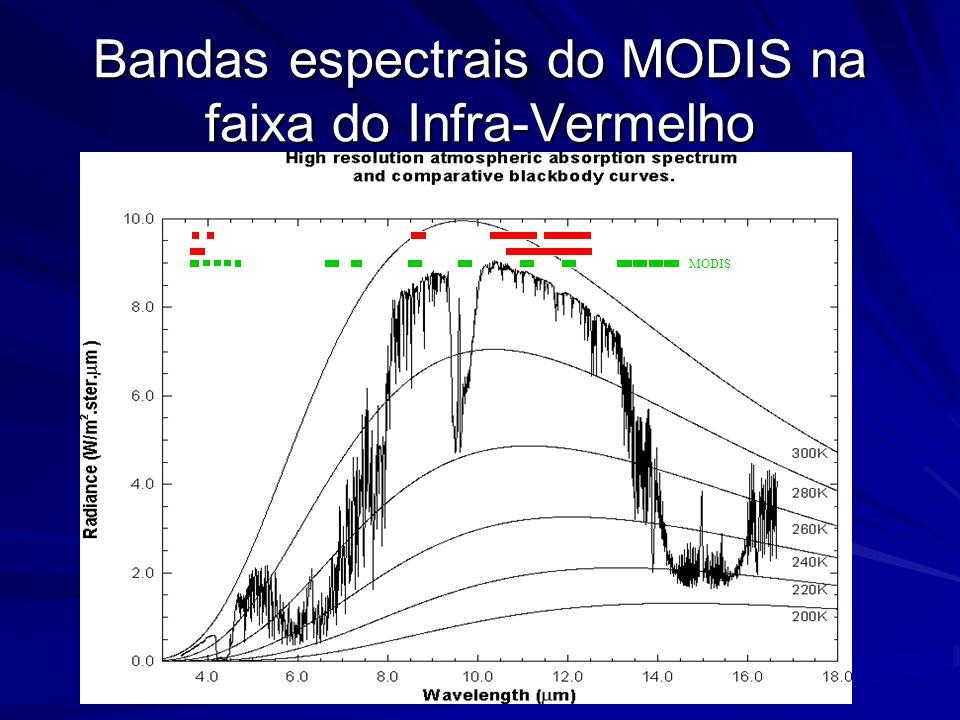 Bandas espectrais do MODIS na faixa do Infra-Vermelho MODIS