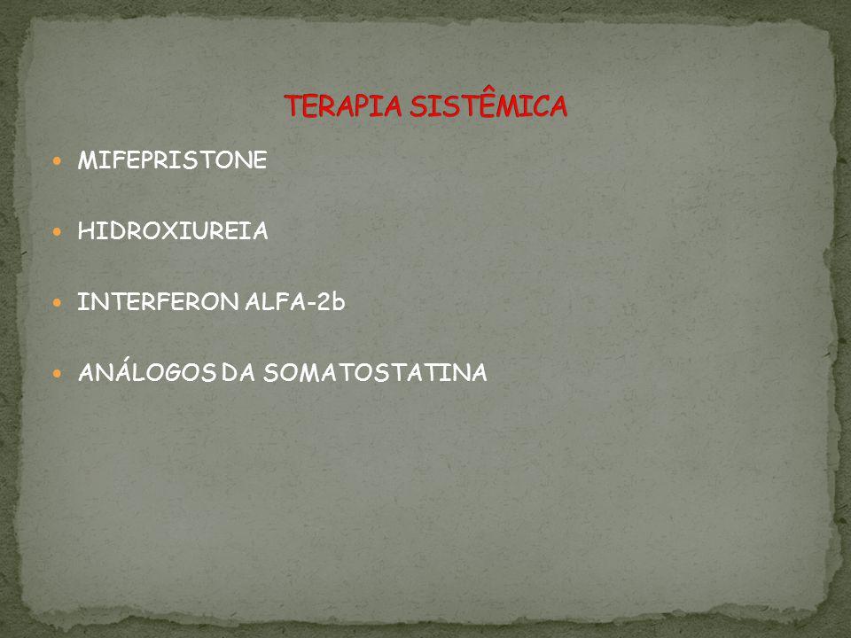 MIFEPRISTONE HIDROXIUREIA INTERFERON ALFA-2b ANÁLOGOS DA SOMATOSTATINA