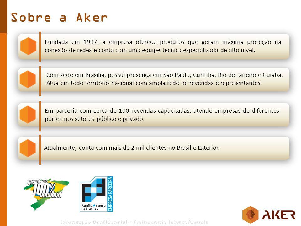 Sobre a Aker Fundada em 1997, a empresa oferece produtos que geram máxima proteção na conexão de redes e conta com uma equipe técnica especializada de