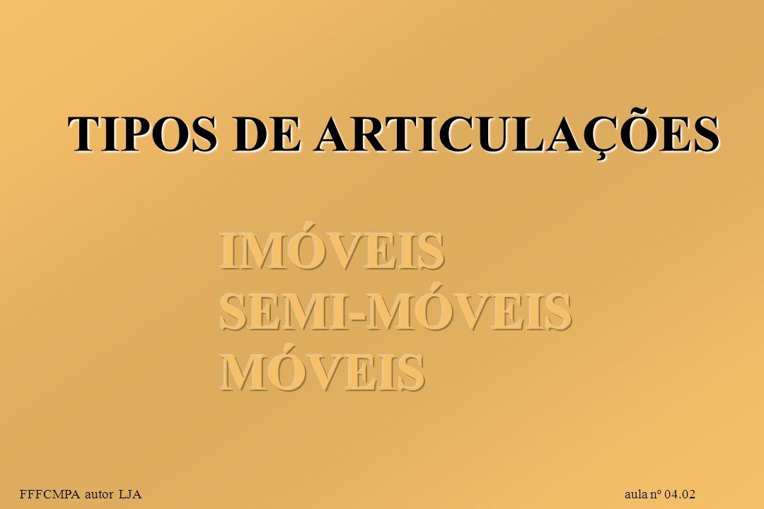 TIPOS DE ARTICULAÇÕES FFFCMPA autor LJA aula nº 04.02