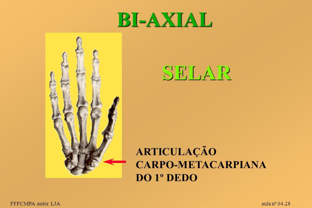 FFFCMPA autor LJA aula nº 04.28 BI-AXIAL ARTICULAÇÃO CARPO-METACARPIANA DO 1º DEDO SELAR