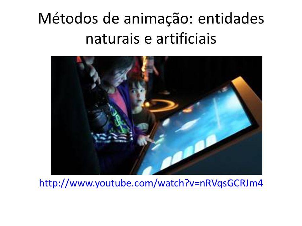 Métodos de animação: entidades naturais e artificiais http://www.youtube.com/watch?v=nRVqsGCRJm4