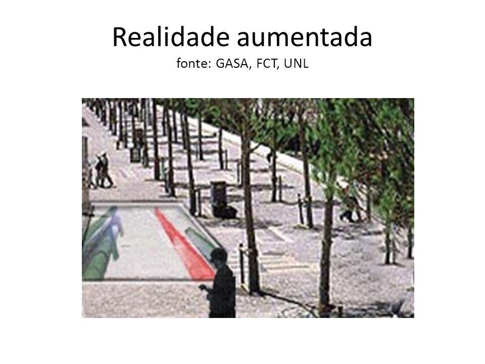 Realidade aumentada fonte: GASA, FCT, UNL