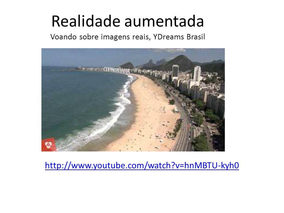 Realidade aumentada Voando sobre imagens reais, YDreams Brasil http://www.youtube.com/watch v=hnMBTU-kyh0