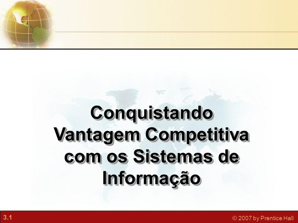 3.1 © 2007 by Prentice Hall Conquistando Vantagem Competitiva com os Sistemas de Informação