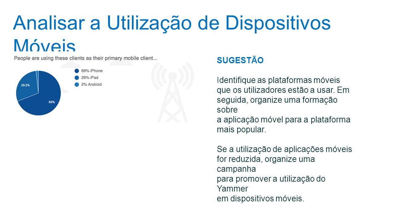 Analisar a Utilização de Dispositivos Móveis SUGESTÃO Identifique as plataformas móveis que os utilizadores estão a usar. Em seguida, organize uma for