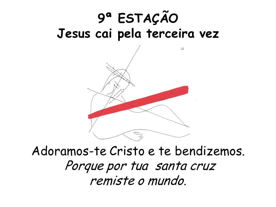 9ª ESTAÇÃO Jesus cai pela terceira vez Adoramos-te Cristo e te bendizemos. Porque por tua santa cruz remiste o mundo.