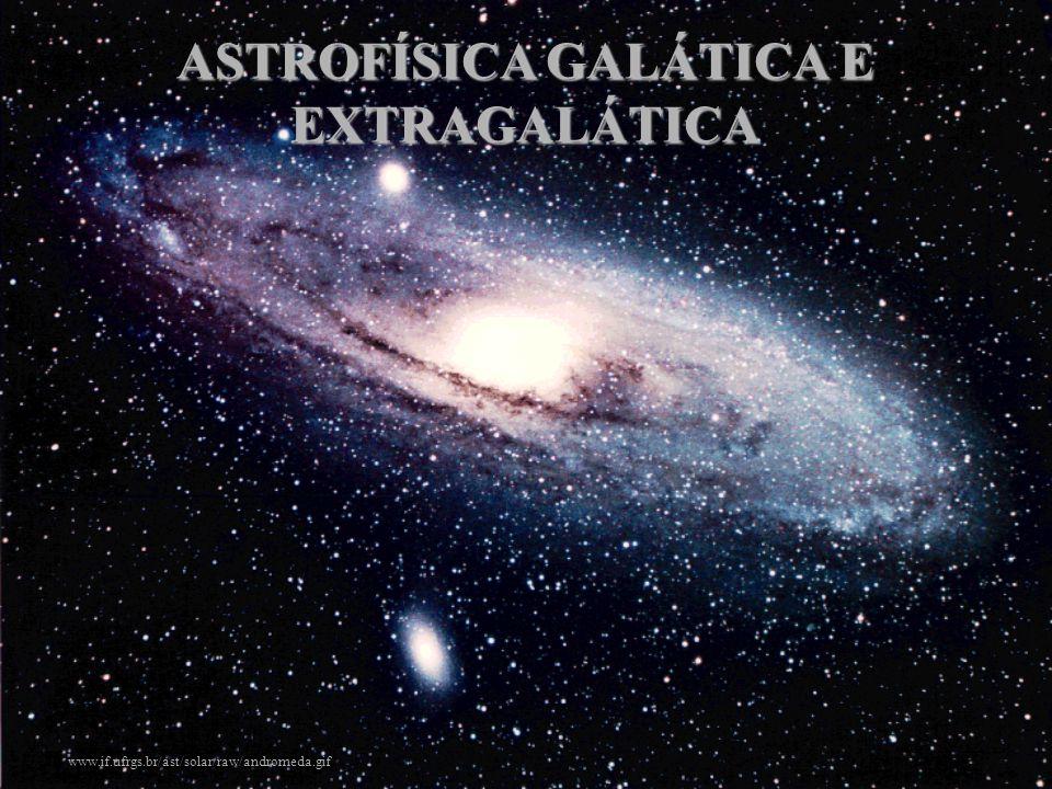 POPULAÇÕES ESTELARES População I Local: disco galáctico e aglomerados abertos situados no disco.