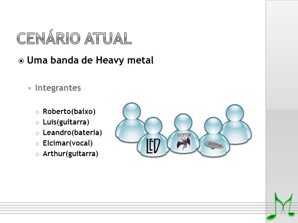  Uma banda de Heavy metal  Integrantes Roberto(baixo) Luís(guitarra) Leandro(bateria) Elcimar(vocal) Arthur(guitarra)