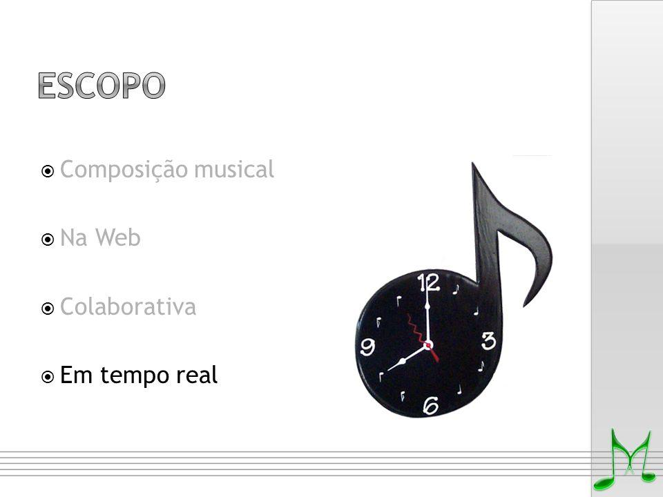 Composição musical  Na Web  Colaborativa  Em tempo real