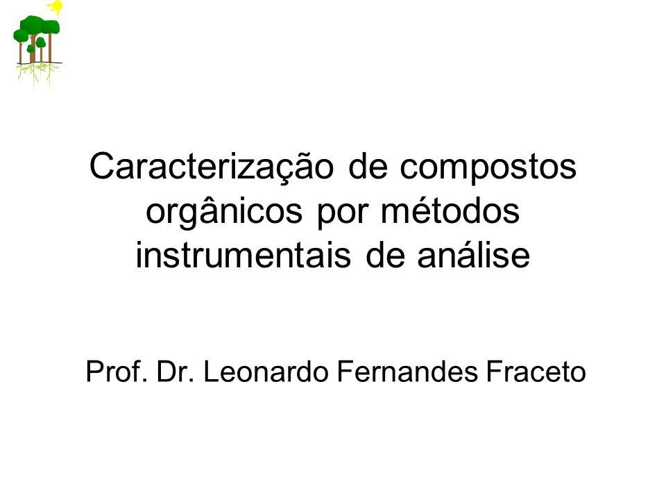 Caracterização de compostos orgânicos por métodos instrumentais de análise Prof.
