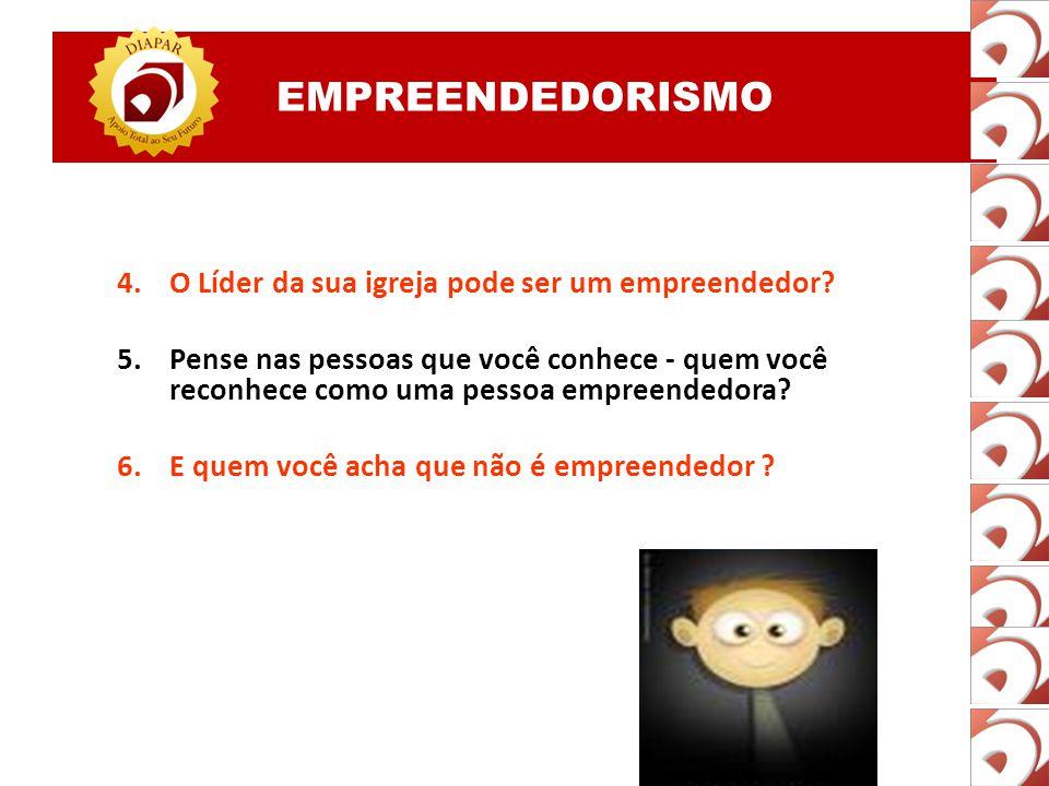 EMPREENDEDORISMO 1.O empreendedor é sempre um empresário ? 2.Um professor pode ser empreendedor? Como ? 3.Um funcionário de uma empresa pode ser empre