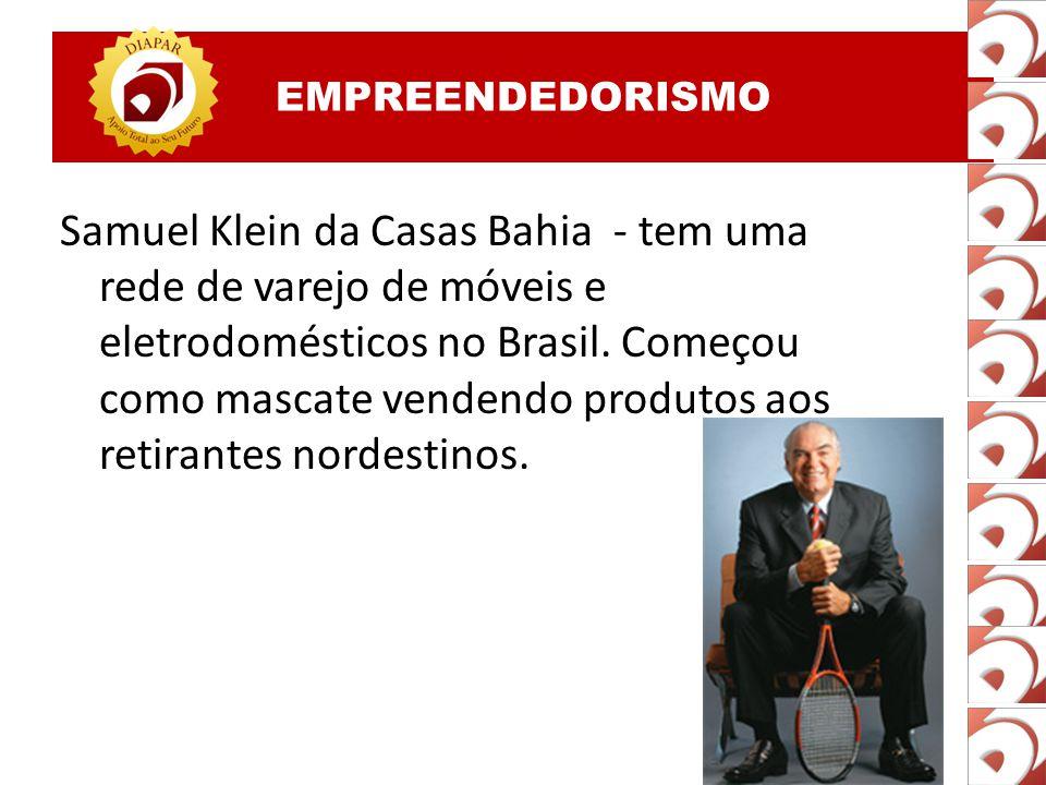 EMPREENDEDORISMO Silvio Santos, pseudônimo de Senhor Abravanel, é um apresentador de televisão e empresário brasileiro, o dono do grupo Silvio Santos