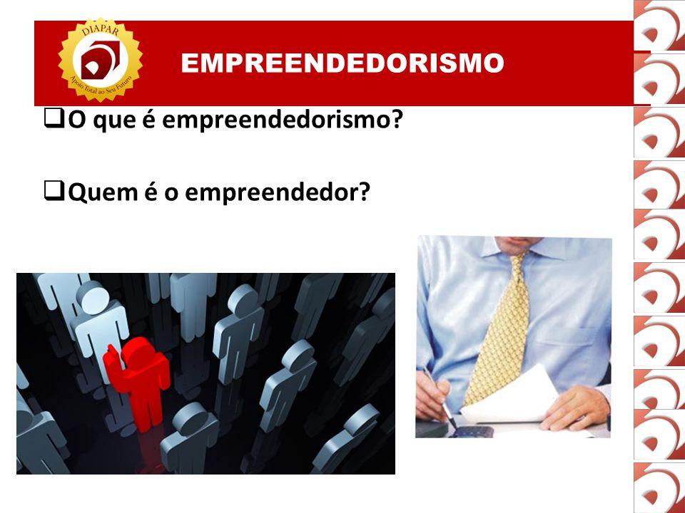 EMPREENDEDORISMO  O que é empreendedorismo?  Quem é o empreendedor?