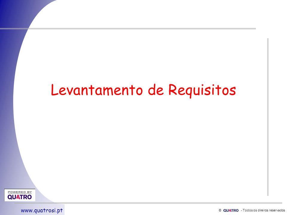 © - Todos os direiros reservados www.quatrosi.pt Levantamento de Requisitos