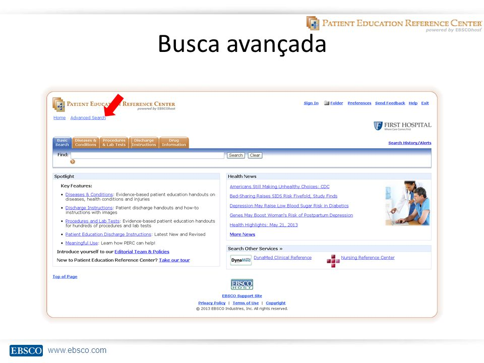 www.ebsco.com Busca avançada