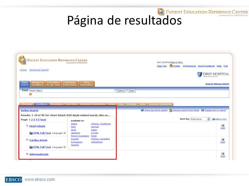 www.ebsco.com Página de resultados
