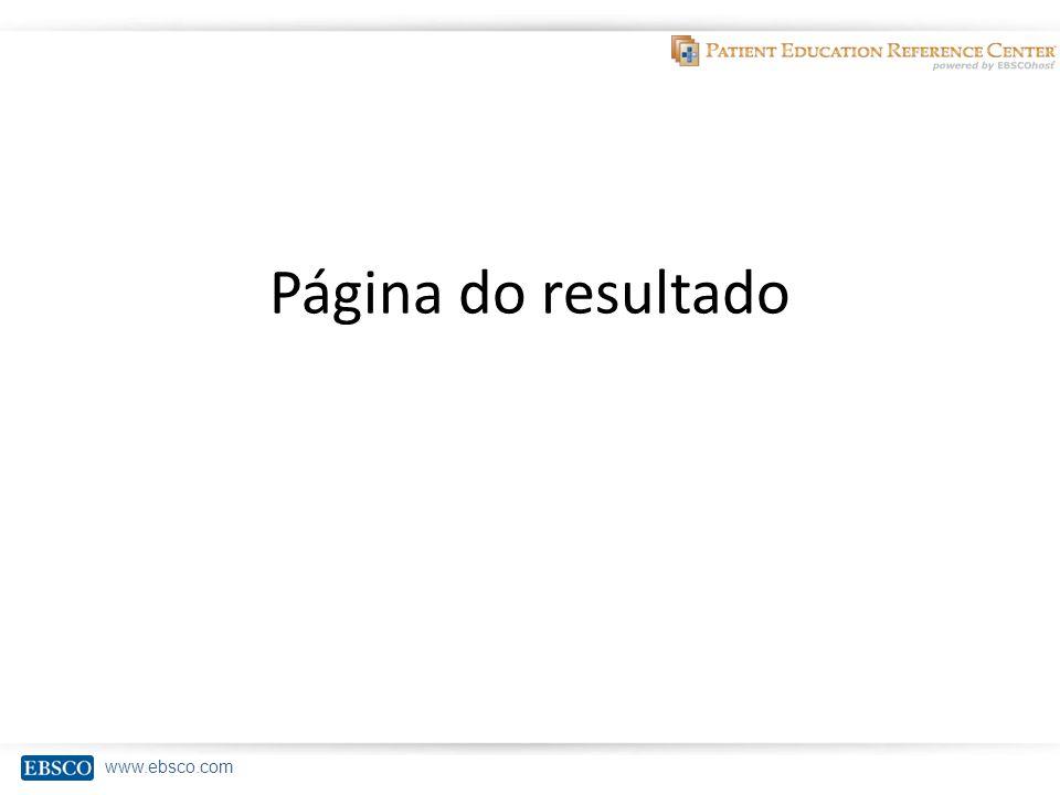 www.ebsco.com Página do resultado