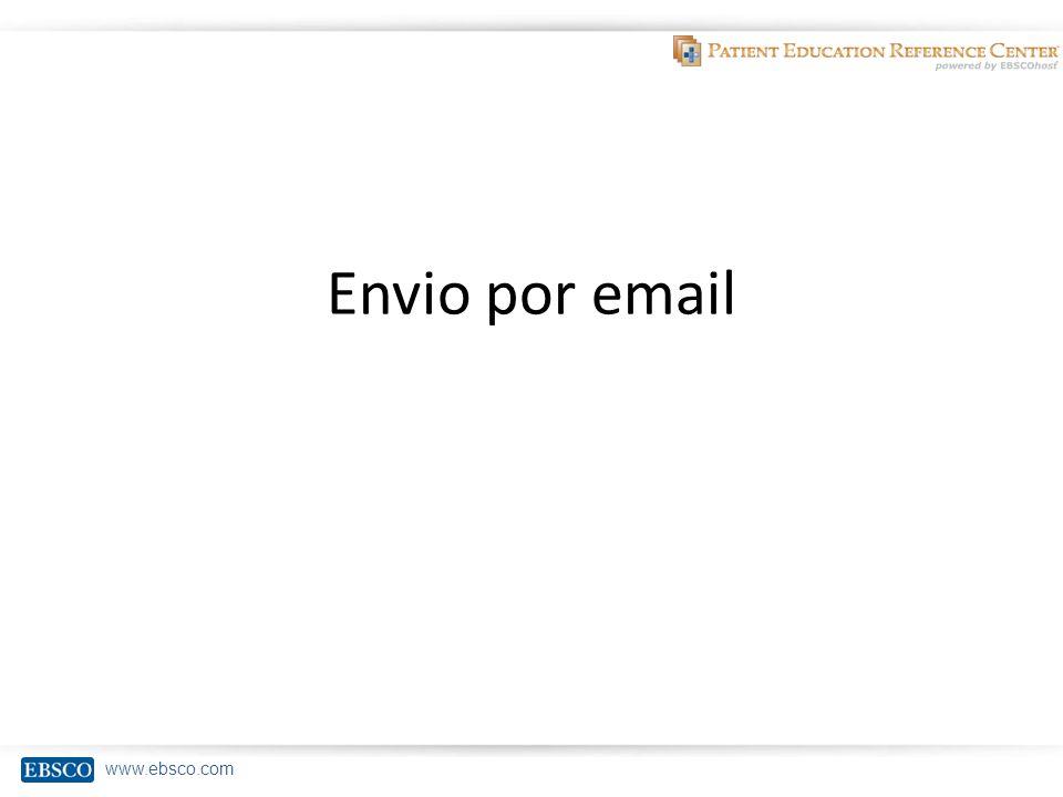 www.ebsco.com Envio por email