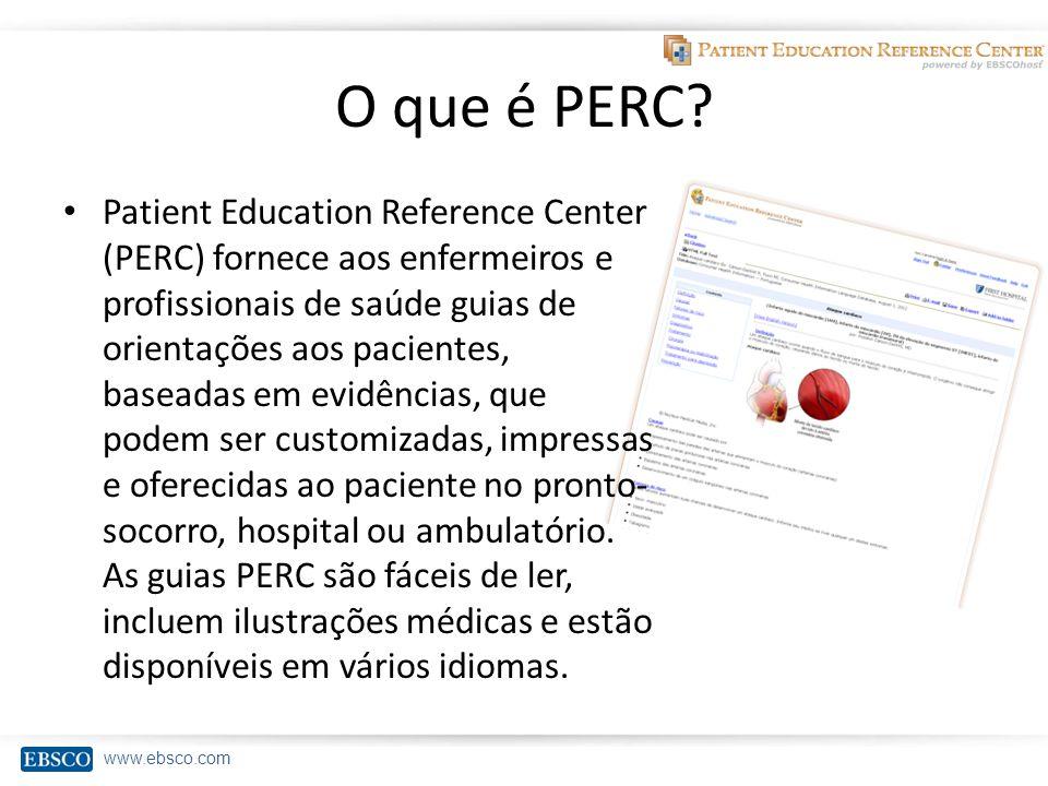 www.ebsco.com O que é PERC.