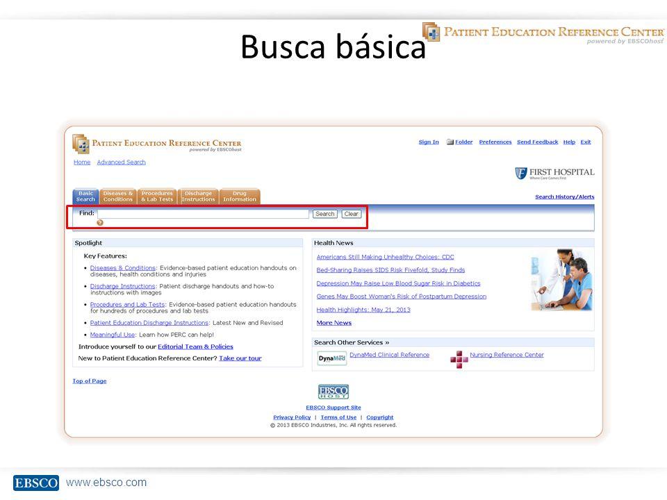 www.ebsco.com Busca básica