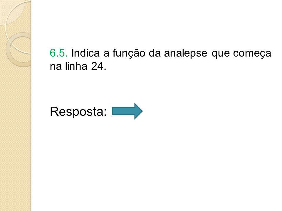 6.5. Indica a função da analepse que começa na linha 24. Resposta: