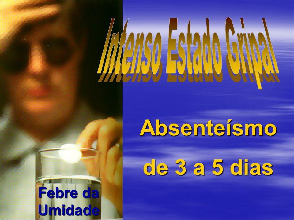 Absenteísmo de 3 a 5 dias Febre da Umidade