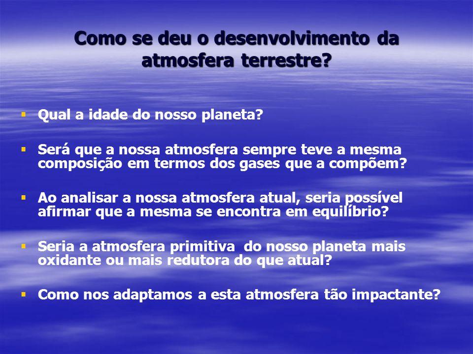 Como se deu o desenvolvimento da atmosfera terrestre.