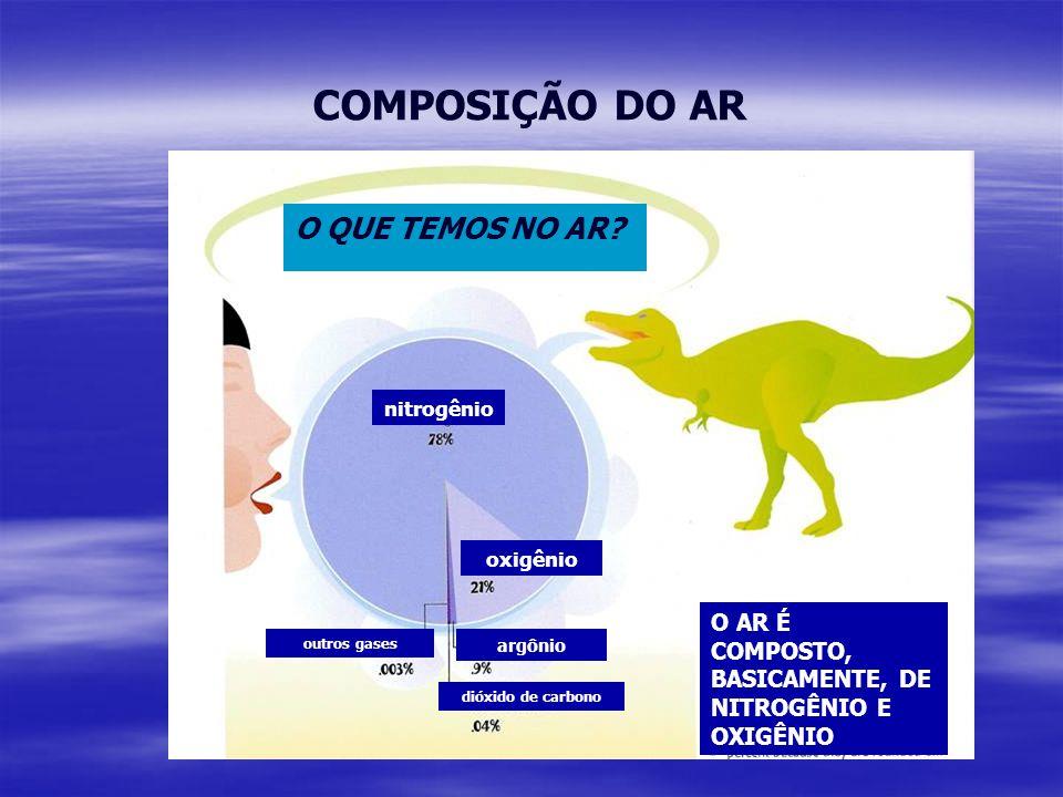 COMPOSIÇÃO DO AR O QUE TEMOS NO AR.