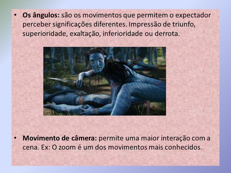 Os ângulos: são os movimentos que permitem o expectador perceber significações diferentes.