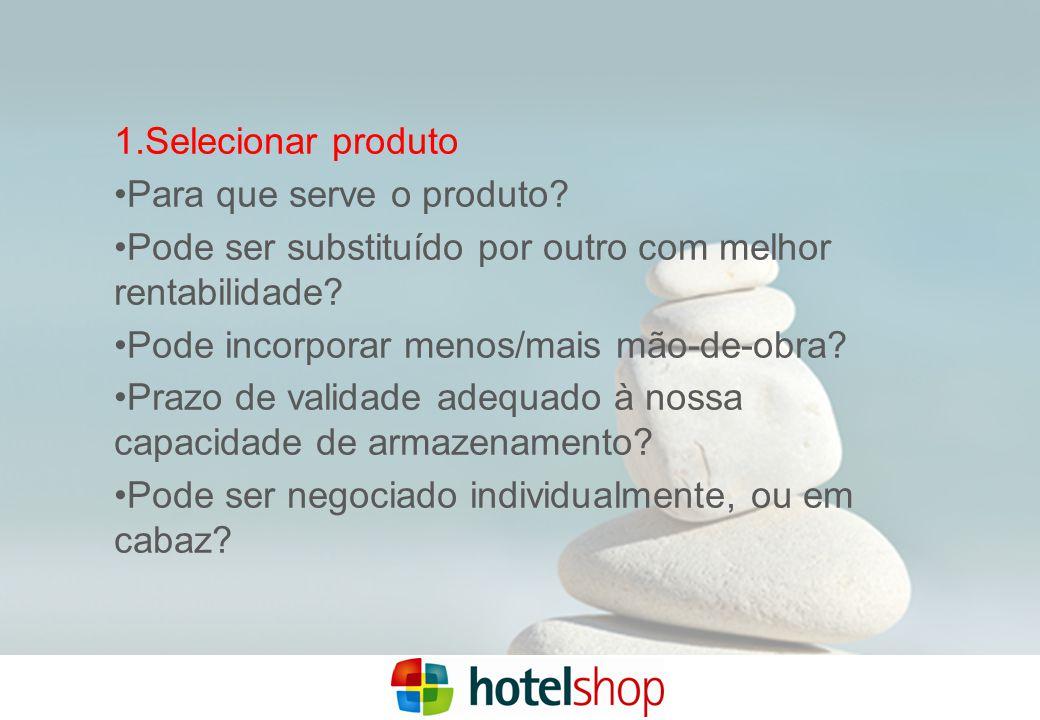 1.Selecionar produto Para que serve o produto.