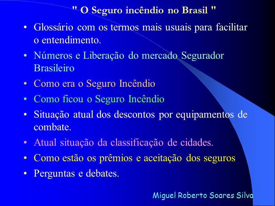 Como o mercado Segurador Brasileiro foi liberado e virou uma salada e como também temos tempo, vou dividir os trabalhos da seguinte maneira: