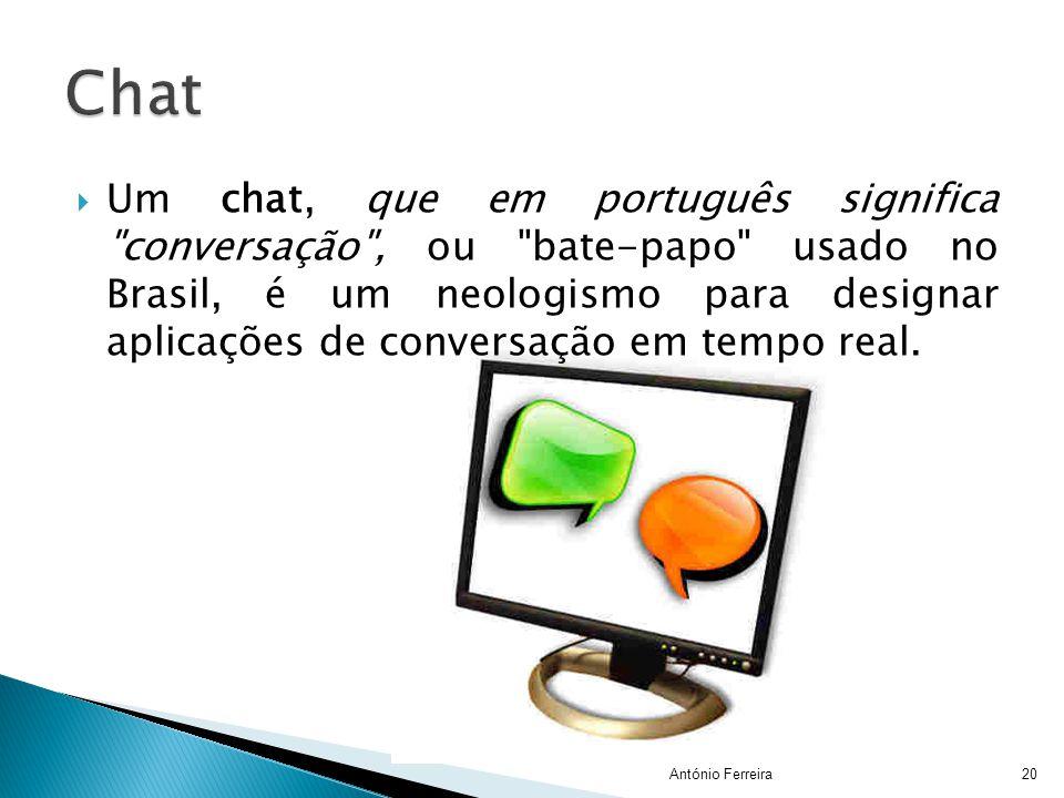  Um chat, que em português significa