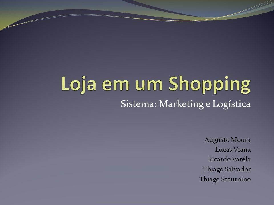Sistema: Marketing e Logística Augusto Moura Lucas Viana Ricardo Varela Thiago Salvador Thiago Saturnino